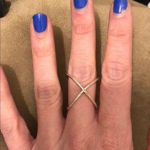 Rose Gold Tone X ring